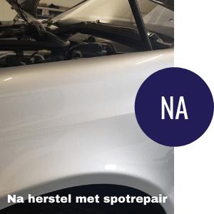 Kras op auto gerepareerd met spotrepair